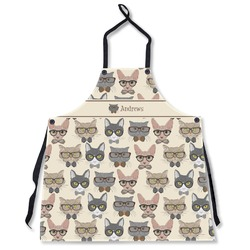Hipster Cats Apron Without Pockets w/ Name or Text