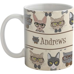 Hipster Cats Coffee Mug (Personalized)