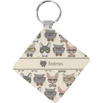 Hipster Cats Diamond Key Chain (Personalized)