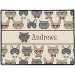 Hipster Cats Door Mat (Personalized)