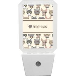 Hipster Cats Night Light (Personalized)