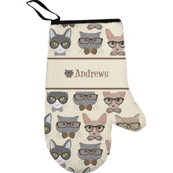 Hipster Cats Right Oven Mitt (Personalized)