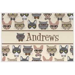 Hipster Cats Placemat (Laminated) (Personalized)