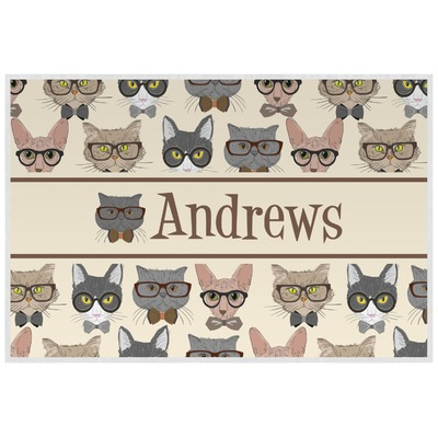 Hipster Cats Laminated Placemat w/ Name or Text