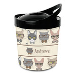 Hipster Cats Plastic Ice Bucket (Personalized)