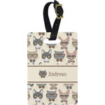 Hipster Cats Rectangular Luggage Tag (Personalized)