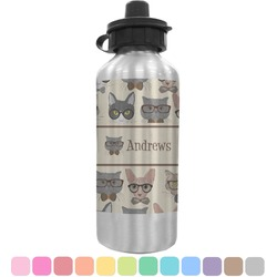 Hipster Cats Water Bottle (Personalized)