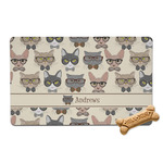 Hipster Cats Pet Bowl Mat (Personalized)
