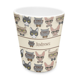Hipster Cats Plastic Tumbler 6oz (Personalized)