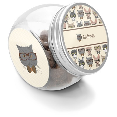 Hipster Cats Puppy Treat Jar (Personalized)