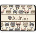 Hipster Cats Rectangular Trailer Hitch Cover (Personalized)