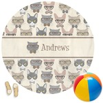 Hipster Cats Round Beach Towel (Personalized)