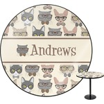 Hipster Cats Round Table (Personalized)