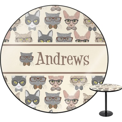 """Hipster Cats Round Table - 30"""" (Personalized)"""