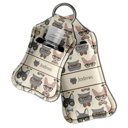Hipster Cats Hand Sanitizer & Keychain Holder (Personalized)
