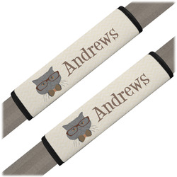 Hipster Cats Seat Belt Covers (Set of 2) (Personalized)