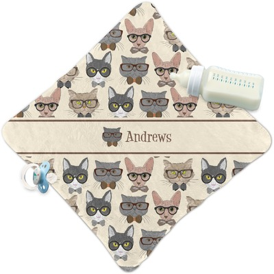 Hipster Cats Security Blanket (Personalized)
