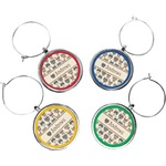 Hipster Cats Wine Charms (Set of 4) (Personalized)