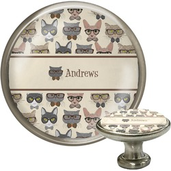 Hipster Cats Cabinet Knobs (Personalized)