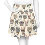 Hipster Cats Skater Skirt (Personalized)