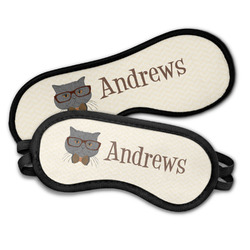 Hipster Cats Sleeping Eye Masks (Personalized)