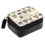 Hipster Cats Small Leatherette Travel Pill Case (Personalized)