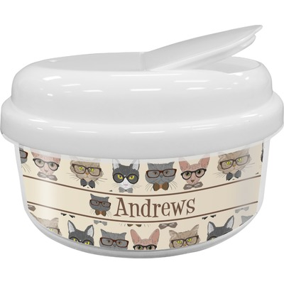 Hipster Cats Snack Container (Personalized)