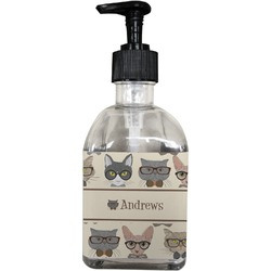 Hipster Cats Soap/Lotion Dispenser (Glass) (Personalized)