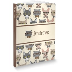 """Hipster Cats Softbound Notebook - 7.25"""" x 10"""" (Personalized)"""