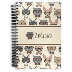 Hipster Cats Spiral Bound Notebook (Personalized)