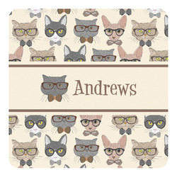 Hipster Cats Square Decal - Custom Size (Personalized)