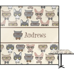 """Hipster Cats Square Table Top - 24"""" (Personalized)"""