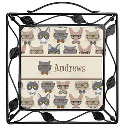 Hipster Cats Trivet (Personalized)