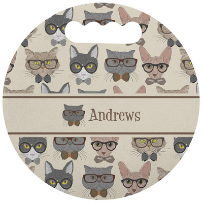 Hipster Cats Stadium Cushion (Round) (Personalized)