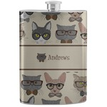 Hipster Cats Stainless Steel Flask (Personalized)