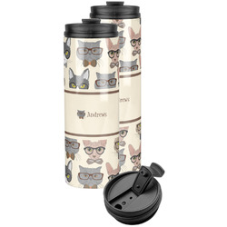 Hipster Cats Stainless Steel Skinny Tumbler (Personalized)