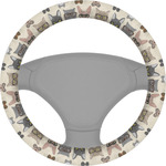 Hipster Cats Steering Wheel Cover (Personalized)