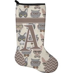 Hipster Cats Christmas Stocking - Single-Sided - Neoprene (Personalized)