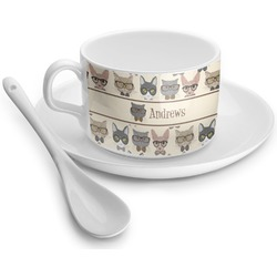 Hipster Cats Tea Cups (Personalized)