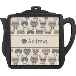 Hipster Cats Teapot Trivet (Personalized)