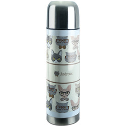 Hipster Cats Stainless Steel Thermos (Personalized)