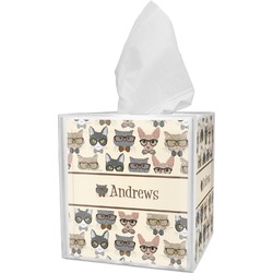 Hipster Cats Tissue Box Cover (Personalized)