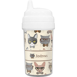 Hipster Cats Toddler Sippy Cup (Personalized)