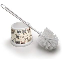 Hipster Cats Toilet Brush (Personalized)