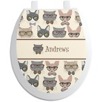 Hipster Cats Toilet Seat Decal (Personalized)