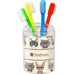 Hipster Cats Toothbrush Holder (Personalized)