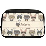 Hipster Cats Toiletry Bag / Dopp Kit (Personalized)