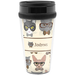 Hipster Cats Travel Mugs (Personalized)
