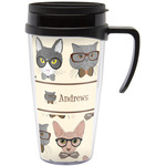Hipster Cats Travel Mug with Handle (Personalized)