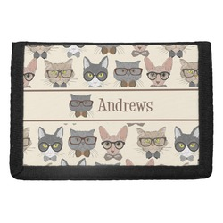 Hipster Cats Trifold Wallet (Personalized)